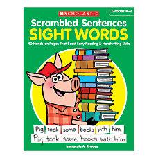 Scholastic Teacher Resources Activity Book Scrambled