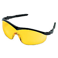 STORM BLACK FRAME AMBERLENS SAFETY GLASSES