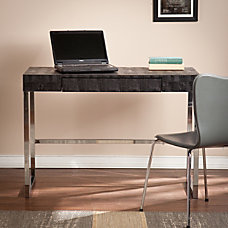 Southern Enterprises Vivienne Reptile Desk BlackChrome