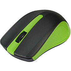 SIIG 24GHz Wireless Optical Mouse Green