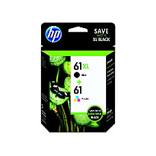 HP 61XL61 BlackTricolor Original Ink Cartridges