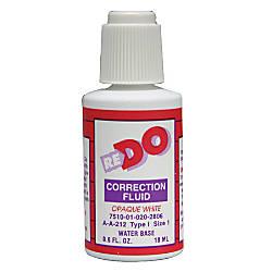 Water Based Correction Fluid 6 Oz