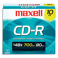 Maxell CD R Media With Jewel