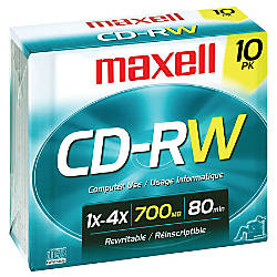 Maxell CD RW Rewritable Media With