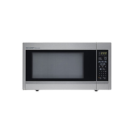 Sharp Countertop Microwave Dimensions : Sharp 1.8 Cu.Ft 1100W Full Size Countertop Microwave by Office Depot ...