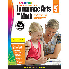 Spectrum Language Arts And Math Workbook