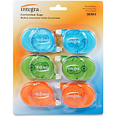 Integra Transparent Case Correction Tape Pack