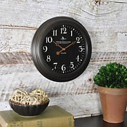 FirsTime Black Onyx Round Wall Clock