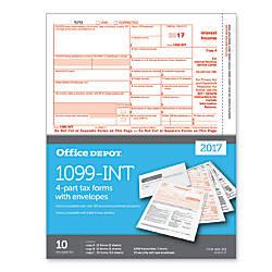 Office Depot Brand 1099 INT Tax