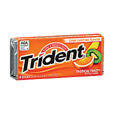 Trident Gum Tropical Twist 0059 Oz