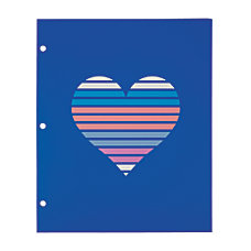 Divoga 2 Pocket Paper Folder Hearts