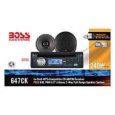 Boss Audio 647CK Package Includes 637UA