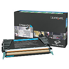 Lexmark C734A1CG Cyan Return Toner Cartridge