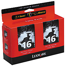 Lexmark 16 10N0016 Black Ink Cartridges