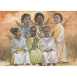 Personalized Holiday Cards Choir of Angels