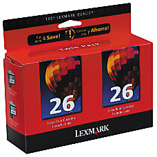 Lexmark 26 10N0026 Color Ink Cartridges