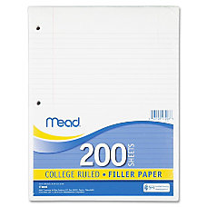 Mead Notebook Filler Paper 200 Sheets