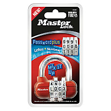 Master Lock Password Plus Combination Padlock
