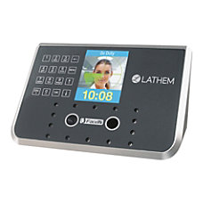 Lathem Biometric Face Recognition Time Clock