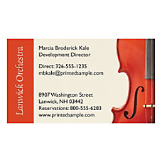 Full Color Textured Print Business Cards
