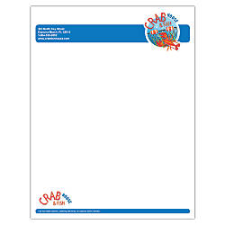 Full Color Raised Print Letterhead 8