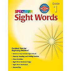 Carson Dellosa Spectrum Sight Words Grade