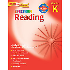 Carson Dellosa Spectrum Reading Grade K