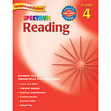 Carson Dellosa Spectrum Reading Grade 4