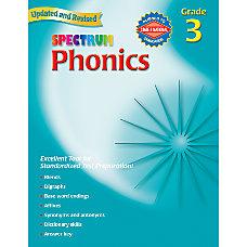 Carson Dellosa Spectrum Phonics Grade 3