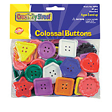 Chenille Kraft Plastic Colossal Buttons Assorted