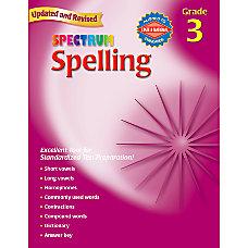 Carson Dellosa Spectrum Spelling Grade 3