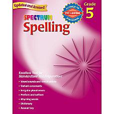 Carson Dellosa Spectrum Spelling Grade 5