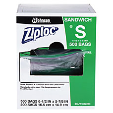 Ziploc Resealable Sandwich Bags Clear Box