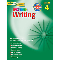 Carson Dellosa Spectrum Writing Grade 4