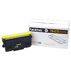 Brother TN 670 Black Toner Cartridge