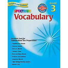 Carson Dellosa Spectrum Vocabulary Grade 3