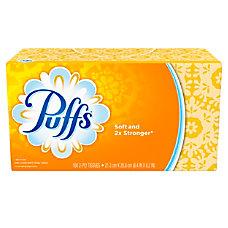 Puffs White 2 Ply Facial Tissue