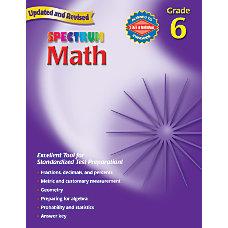 Spectrum Math Workbook Grade 6