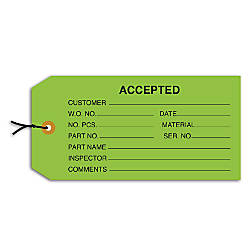 Office Depot Brand Prestrung Inspection Tags