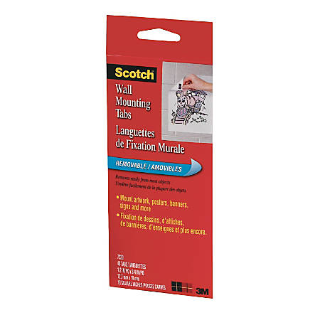Scotch Wall Mounting Tabs 12 X 34 Pack Of 48 By Office