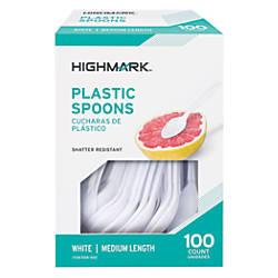 Highmark Medium Length Plastic Spoons Pack