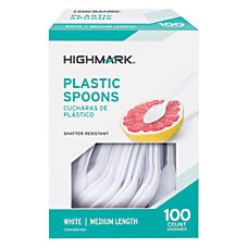 Highmark Medium Length Polystyrene Spoons Pack
