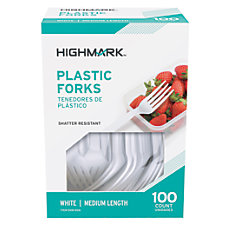 Highmark Medium Length Polystyrene Forks Pack