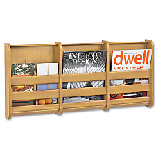 Safco 3 Pocket Magazine Wall Rack