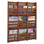 Safco 9 Pocket Magazine Wall Rack