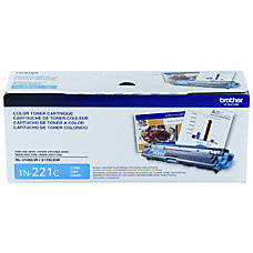 Brother TN 221C Cyan Toner Cartridge