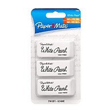 Paper Mate White Pearl Latex Free