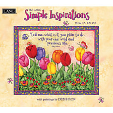 LANG Monthly Wall Calendar 13 38