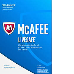 McAfee 2017 LiveSafe 1 Year Unlimited
