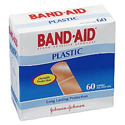 Band Aid Plastic Bandages One Size